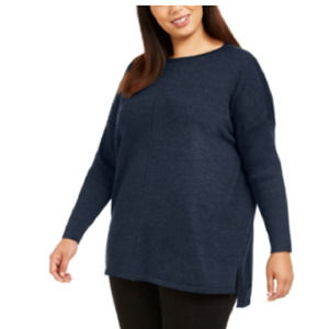 Style & Co Plus Size Seam-Front Tunic Sweater 1x 2x 3x